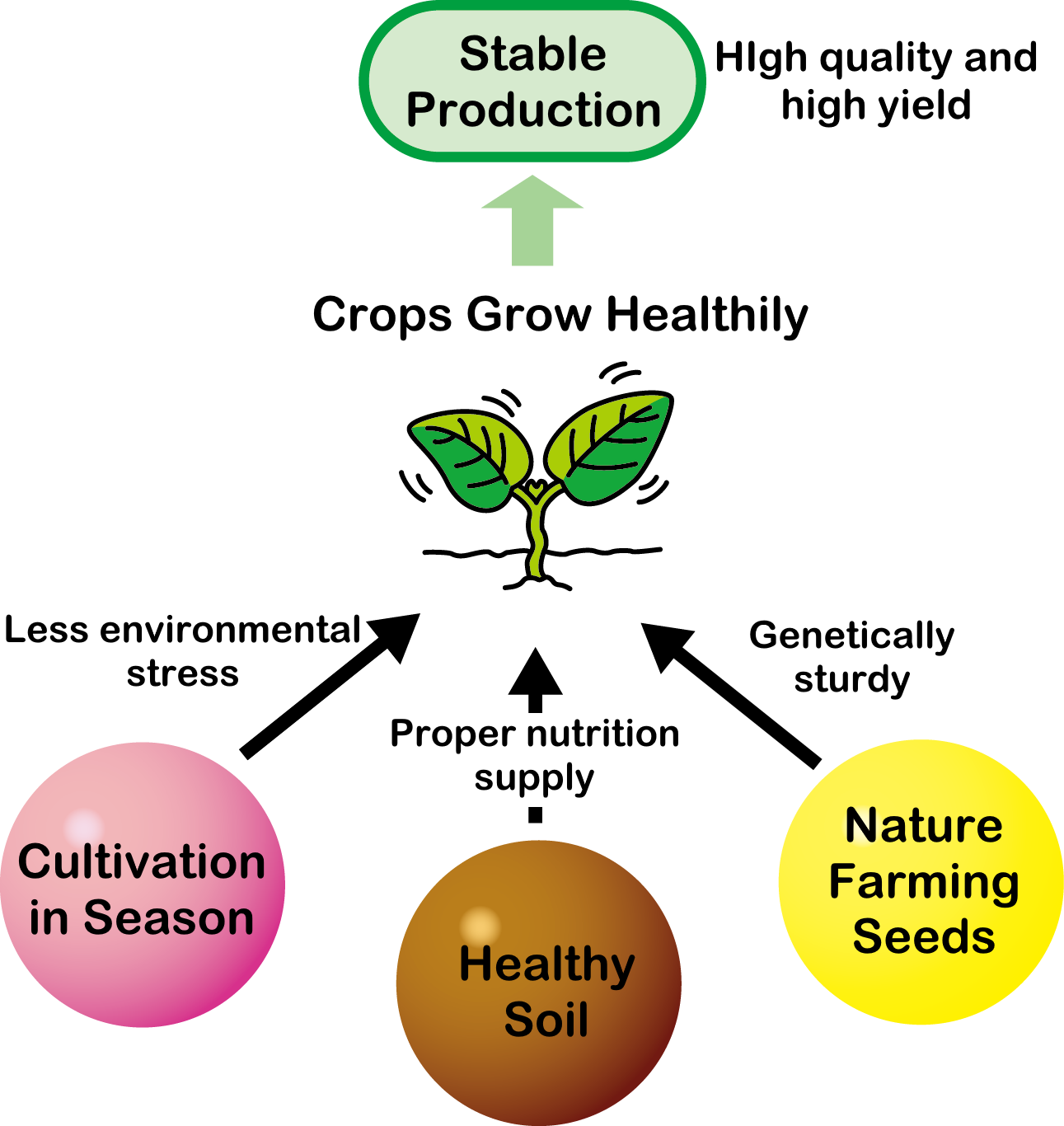 Keys to stable crop production