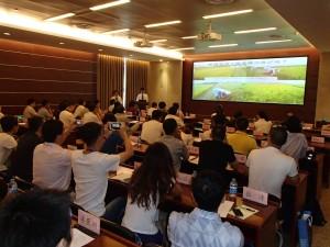 上海の大学における自然農法フォーラム